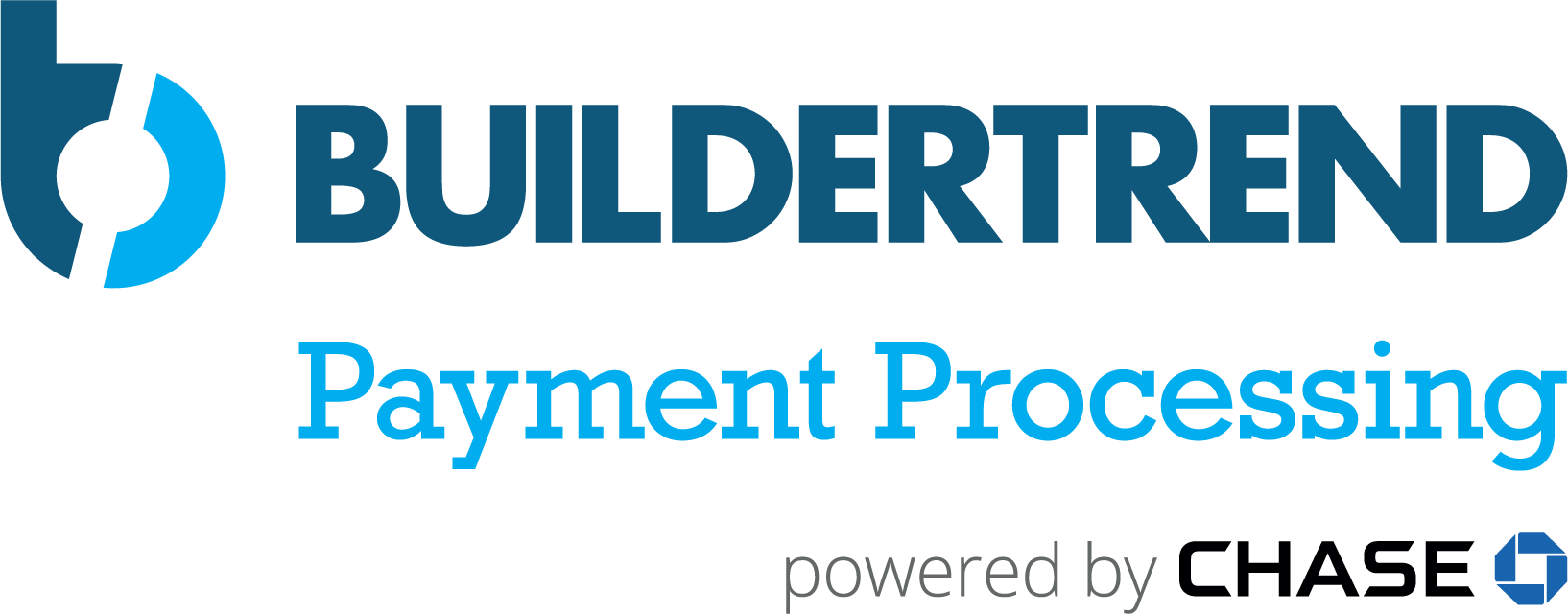 buildertrend payment processing powered by chase logo