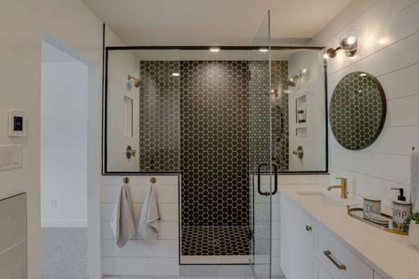 Finished bathroom by Spruce Homes