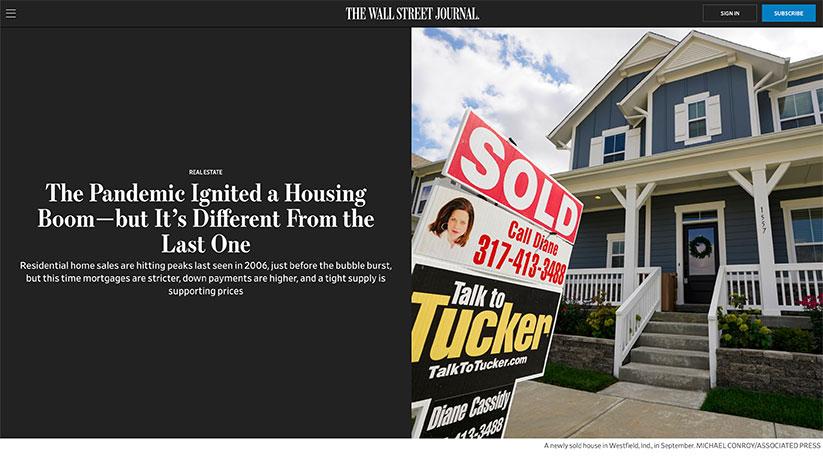 Wall Street Journal housing boom